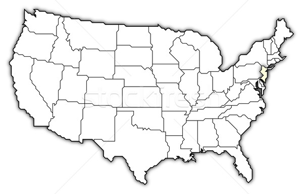 Map of the United States, New Jersey highlighted Stock photo © Schwabenblitz