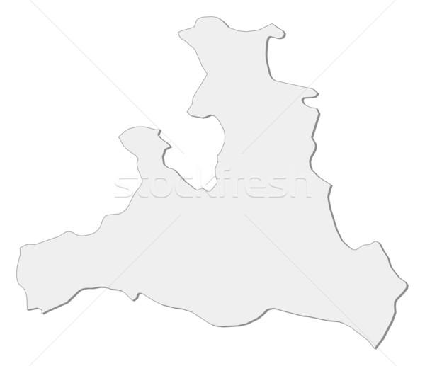 Foto stock: Mapa · Áustria · abstrato · fundo · comunicação · preto