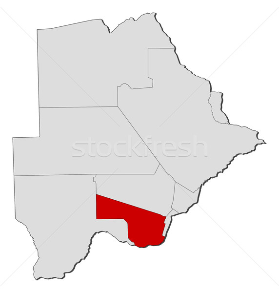 Stock photo: Map - Botswana, Southern