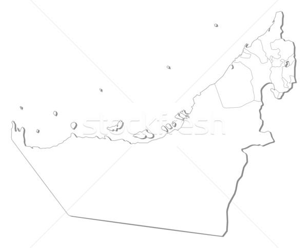 Harita Birleşik Arap Emirlikleri siyasi birkaç toprak sanat Stok fotoğraf © Schwabenblitz
