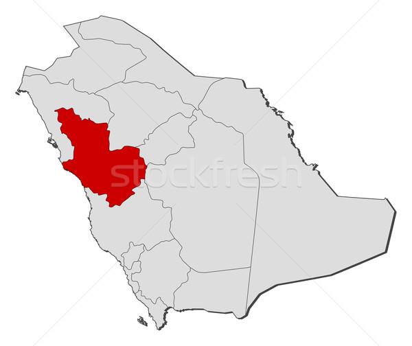 Map of Saudi Arabia, Al Madinah highlighted Stock photo © Schwabenblitz