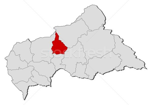 Сток-фото: карта · центральный · африканских · республика · политический · несколько