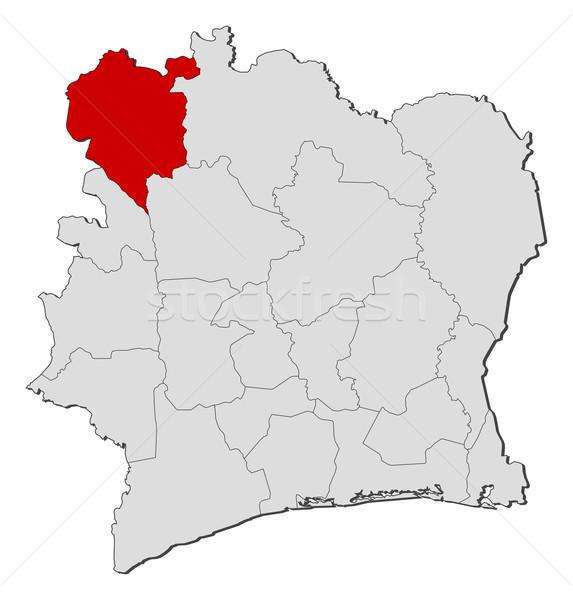 Map of Ivory Coast, Dengu Stock photo © Schwabenblitz