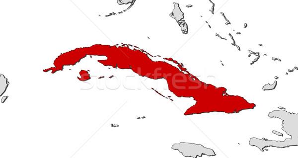Harita Küba siyasi birkaç soyut dünya Stok fotoğraf © Schwabenblitz