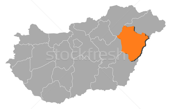 Map of Hungary, Hajd Stock photo © Schwabenblitz