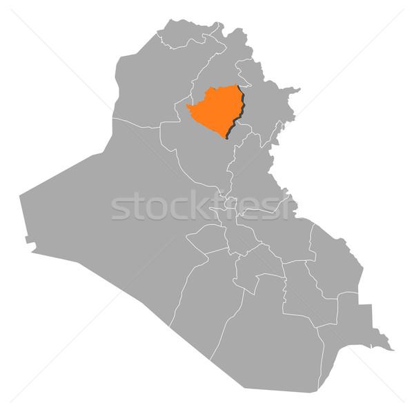 Map of Iraq, Kirkuk highlighted Stock photo © Schwabenblitz