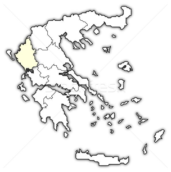 Сток-фото: карта · Греция · политический · несколько · аннотация · фон