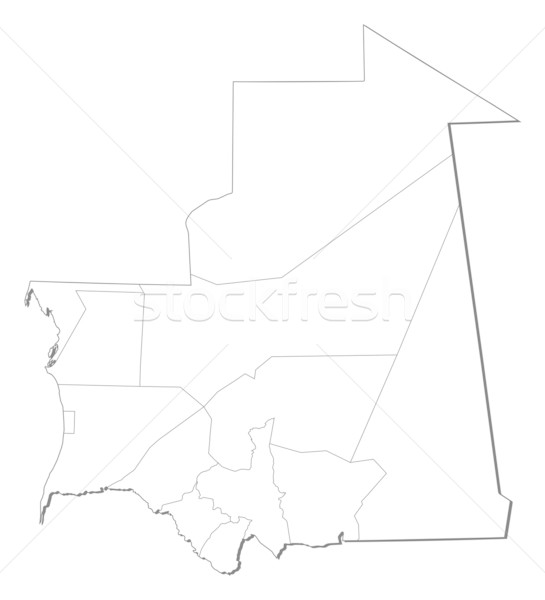 Map - Mauritania Stock photo © Schwabenblitz