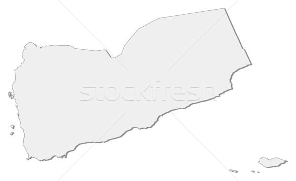 Mapa Iémen político vários abstrato mundo Foto stock © Schwabenblitz