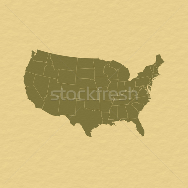 Map of the United States Stock photo © Schwabenblitz