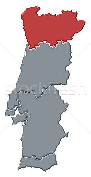 карта Португалия регион политический несколько Сток-фото © Schwabenblitz