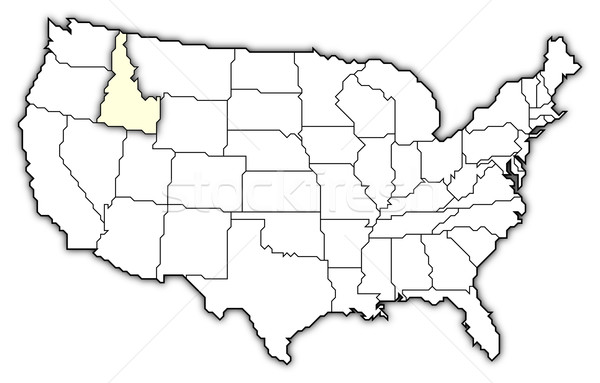 Harita Amerika Birleşik Devletleri Idaho siyasi birkaç soyut Stok fotoğraf © Schwabenblitz