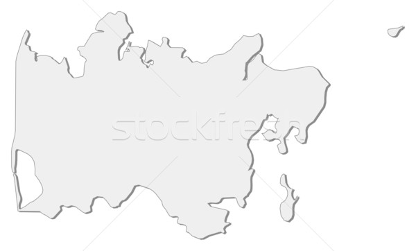 Kaart centraal Denemarken regio wereldbol abstract Stockfoto © Schwabenblitz