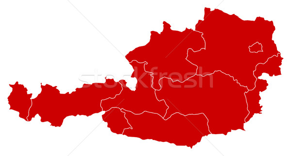 地図 オーストリア 黒 抽象的な 背景 赤 ストックフォト © Schwabenblitz
