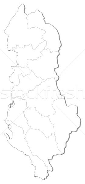 Mapa Albania político mundo resumen Foto stock © Schwabenblitz