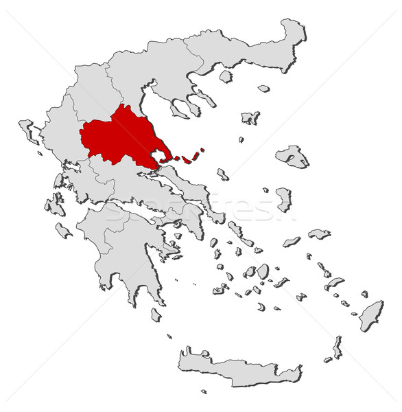 Map of Greece, Thessaly highlighted Stock photo © Schwabenblitz