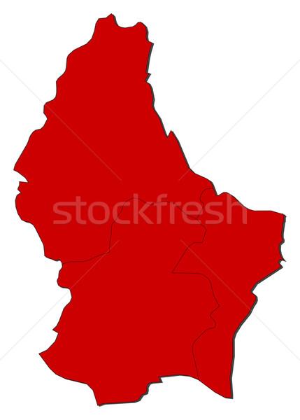 Kaart Luxemburg politiek verscheidene abstract wereld Stockfoto © Schwabenblitz