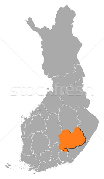Harita Finlandiya güney siyasi birkaç bölgeler Stok fotoğraf © Schwabenblitz