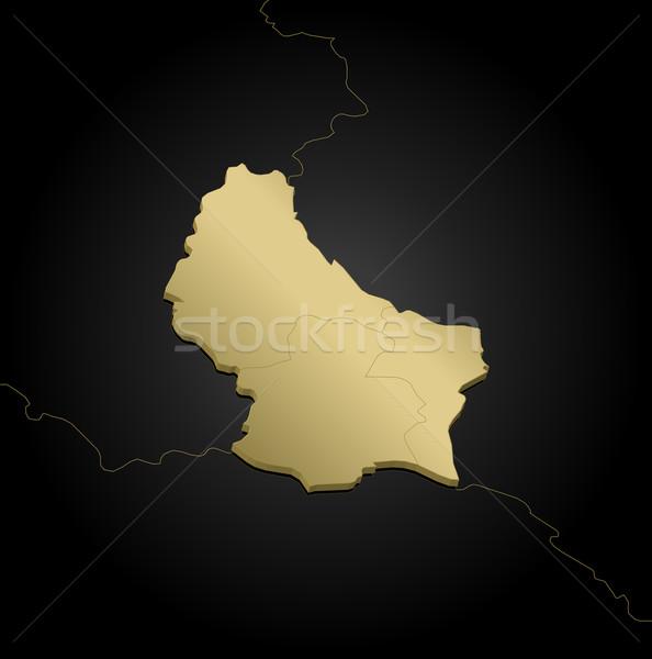 ストックフォト: 地図 · ルクセンブルク · 政治的 · いくつかの · 抽象的な · 世界