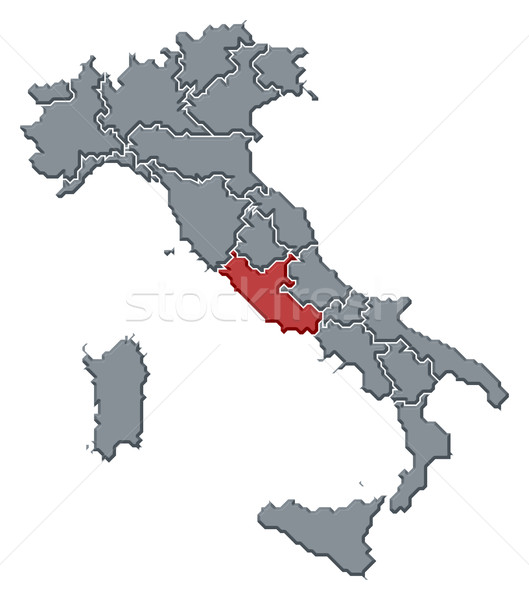 Map of Italy, Lazio highlighted Stock photo © Schwabenblitz