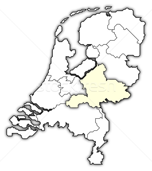 Map of Netherlands, Gelderland highlighted Stock photo © Schwabenblitz