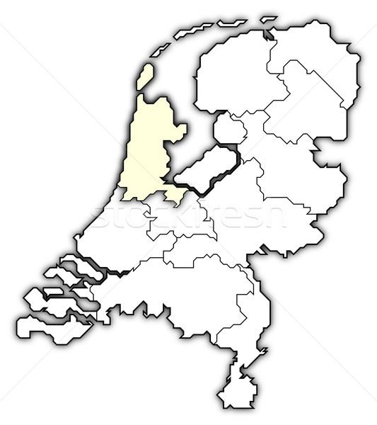 Karte Niederlande nördlich holland politischen mehrere Stock foto © Schwabenblitz