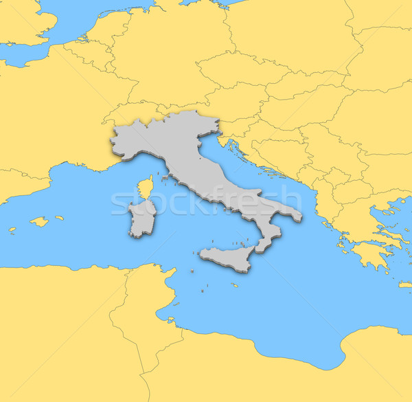 Mapa Itália político vários regiões abstrato Foto stock © Schwabenblitz