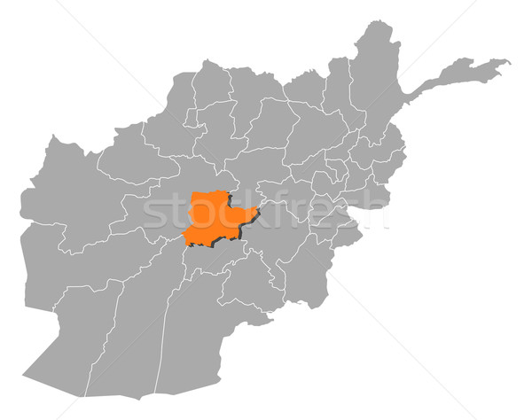 Map of Afghanistan, Daykundi highlighted Stock photo © Schwabenblitz