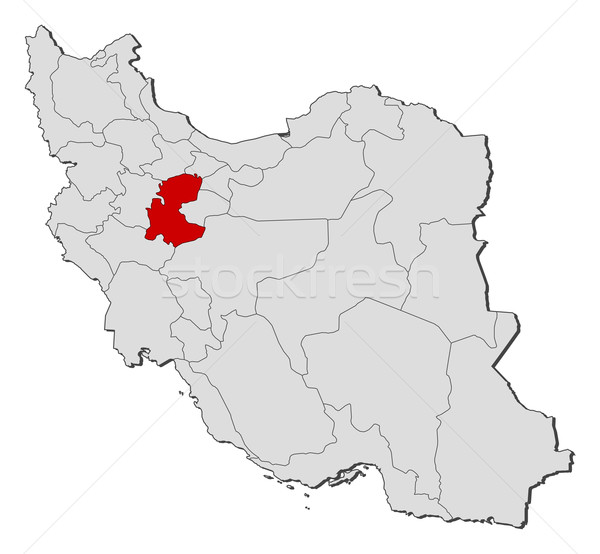 Map of Iran, Markazi highlighted Stock photo © Schwabenblitz