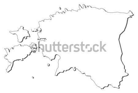 Stok fotoğraf: Harita · Estonya · siyasi · birkaç · soyut · dünya