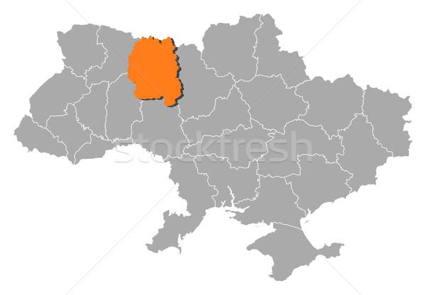Mapa Ucrânia político vários abstrato fundo Foto stock © Schwabenblitz
