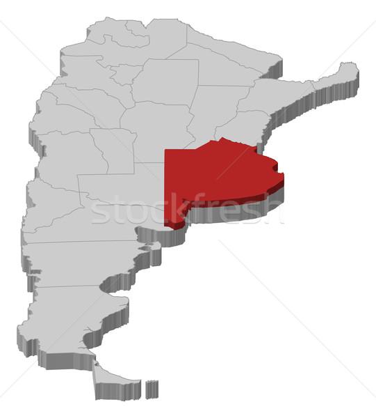 карта Аргентина Буэнос-Айрес политический несколько аннотация Сток-фото © Schwabenblitz