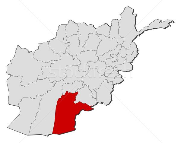 Map of Afghanistan, Kandahar highlighted Stock photo © Schwabenblitz