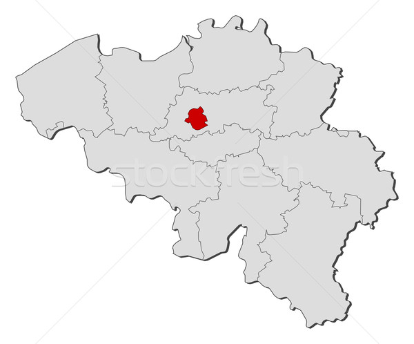 Stock photo: Map of Belgium, Brusseles highlighted