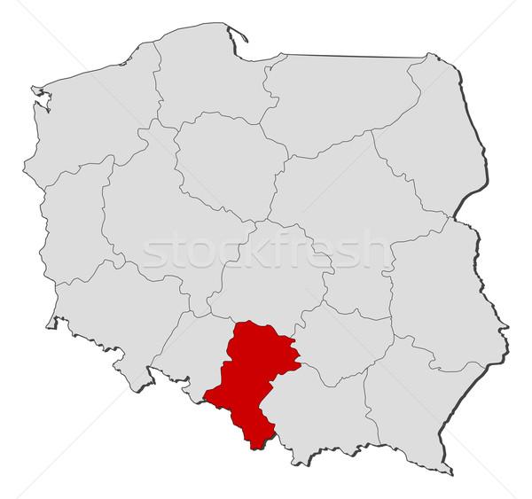 Map of Poland, Silesian highlighted Stock photo © Schwabenblitz