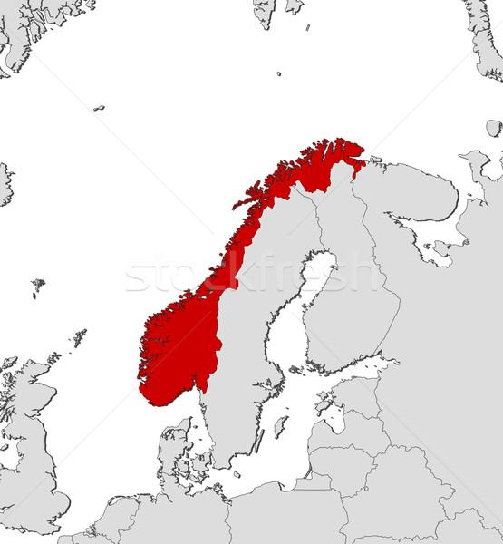 Map of Norway Stock photo © Schwabenblitz