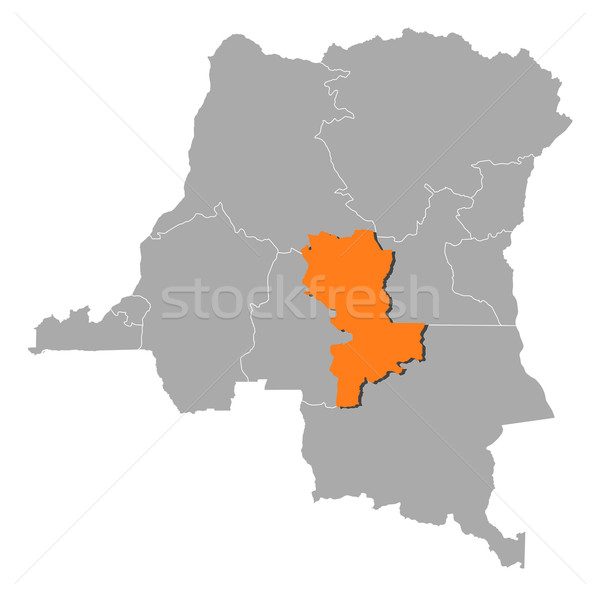 Map of Democratic Republic of the Congo, Kasai-Oriental highlighted Stock photo © Schwabenblitz