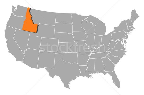 Kaart Verenigde Staten Idaho politiek verscheidene abstract Stockfoto © Schwabenblitz