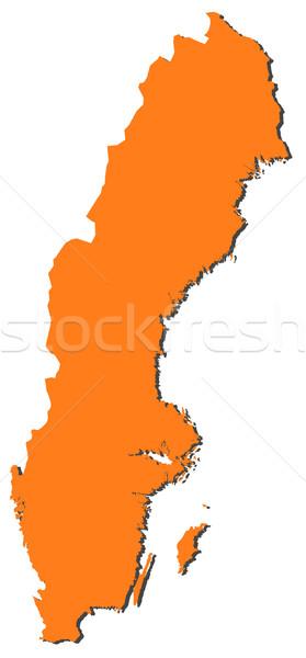 Mappa Svezia politico parecchi abstract mondo Foto d'archivio © Schwabenblitz
