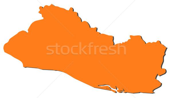 地図 エルサルバドル 政治的 いくつかの 抽象的な 世界 ストックフォト © Schwabenblitz