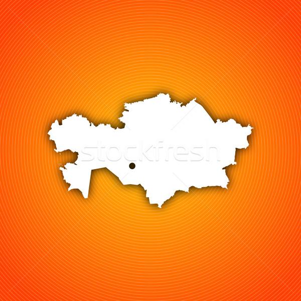 Mapa Cazaquistão político vários regiões abstrato Foto stock © Schwabenblitz