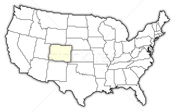 Mapa Estados Unidos Colorado político vários abstrato Foto stock © Schwabenblitz