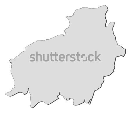 Сток-фото: карта · Италия · регион · аннотация · фон · связи