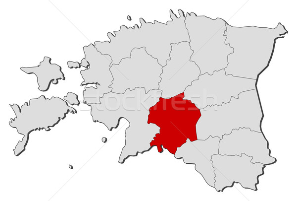 карта Эстония политический несколько мира аннотация Сток-фото © Schwabenblitz