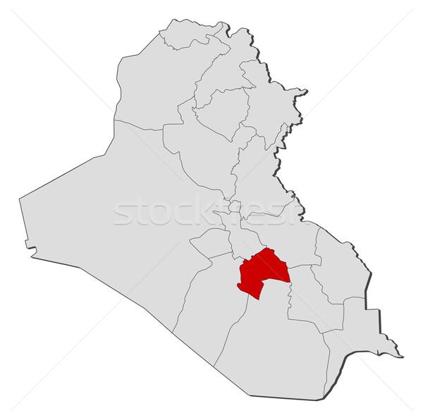 Harita Irak siyasi birkaç soyut toprak Stok fotoğraf © Schwabenblitz