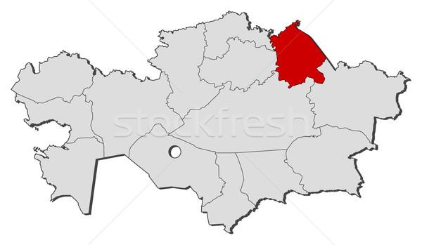 Karte Kasachstan politischen mehrere Regionen Welt Stock foto © Schwabenblitz