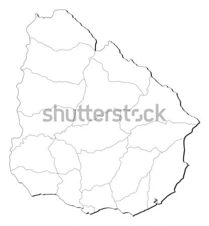Harita Uruguay siyasi birkaç soyut sanat Stok fotoğraf © Schwabenblitz