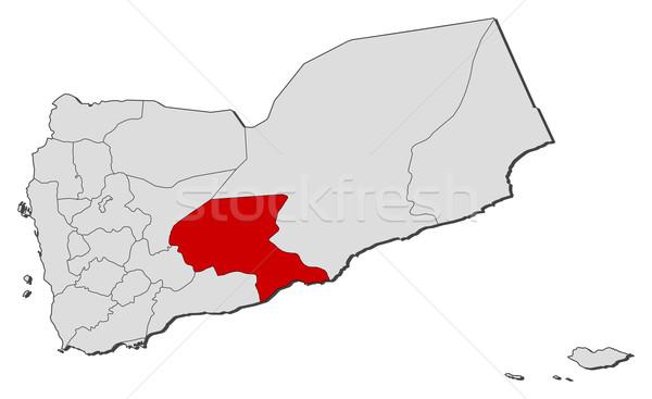 Kaart Jemen politiek verscheidene abstract achtergrond Stockfoto © Schwabenblitz