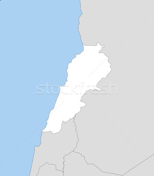 地図 レバノン 政治的 いくつかの 抽象的な 世界 ストックフォト © Schwabenblitz