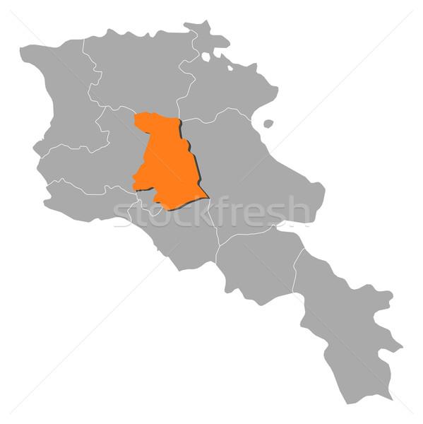 Mapa Armênia político vários abstrato fundo Foto stock © Schwabenblitz